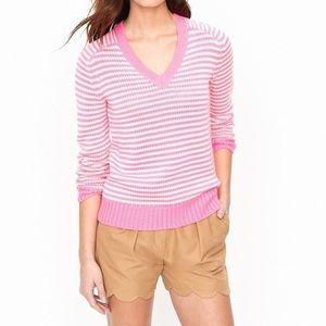 J Crew v neck sweater cotton blend 3/4 sleeve
